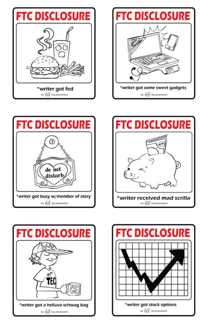 FTC Disclosure (Illustrations by Louis Gray and Jeannine Schafer)