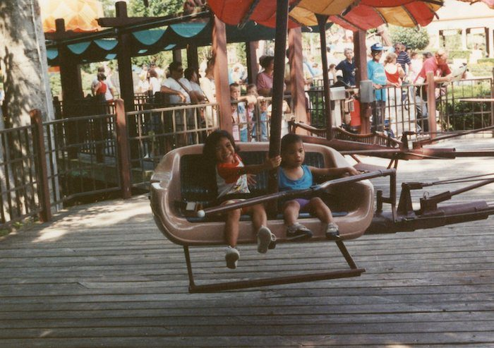 Mike and Marrianne at Busch Gardens in 1990.